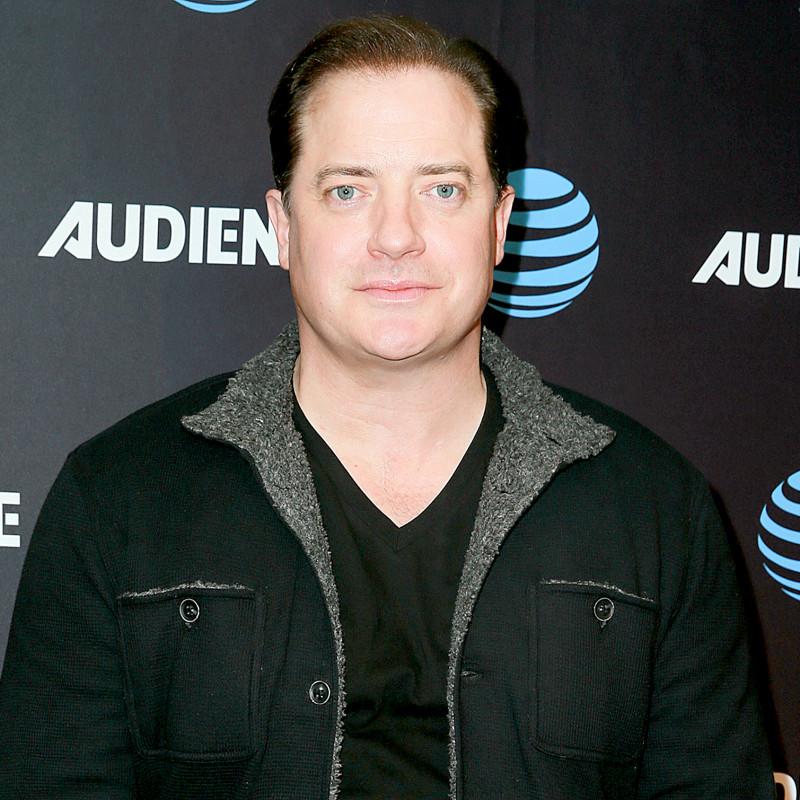 Brendan Fraser attends an event wearing a black jacket.