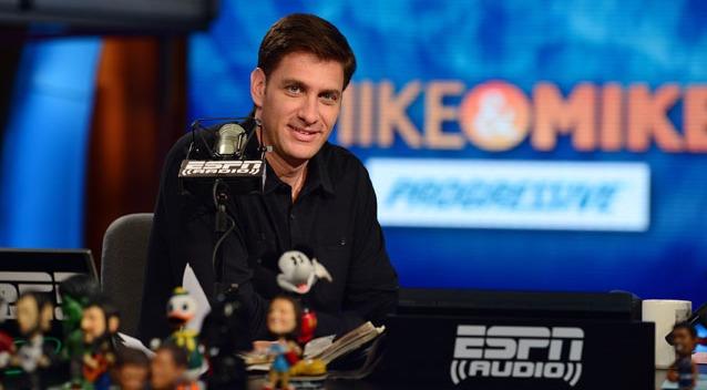 Mike Greenberg looking dashing in black shirt