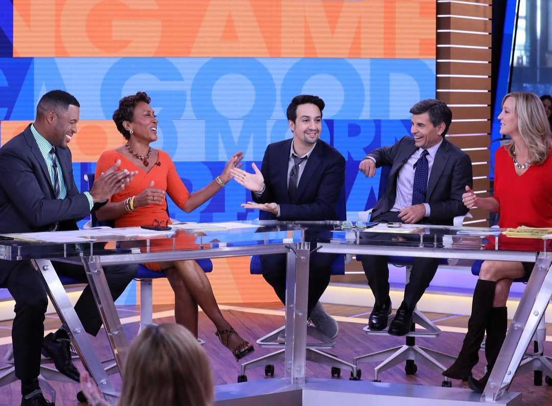 Robin Roberts with other cast member of Good Morning America