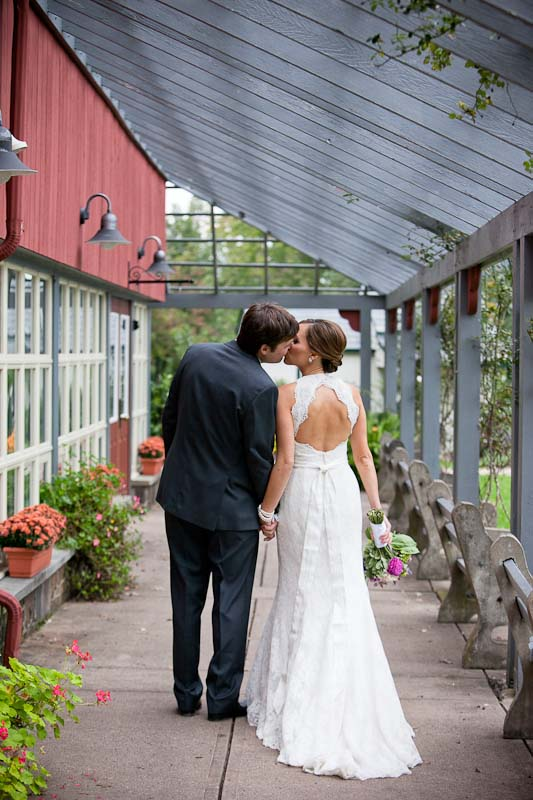 NBC's news correspondent Hailee Jackson kissing her husband Dough Jackner after their wedding