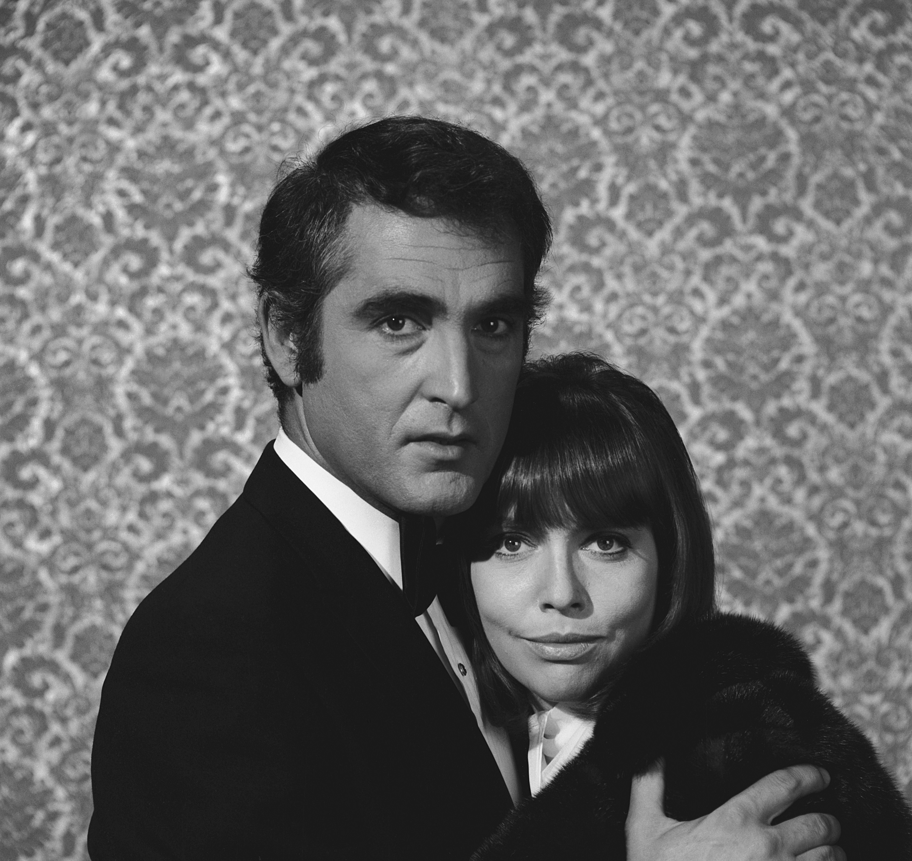 Barbara Feldon in the arms of her first husband Lucien Verdoux Feldon