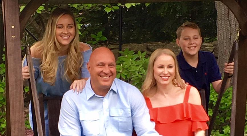 in the image : Ruby Wilkos (left), Steve Wilkos (center left), Rachelle Wilkos (center right) and Jack Wilkos (right)
