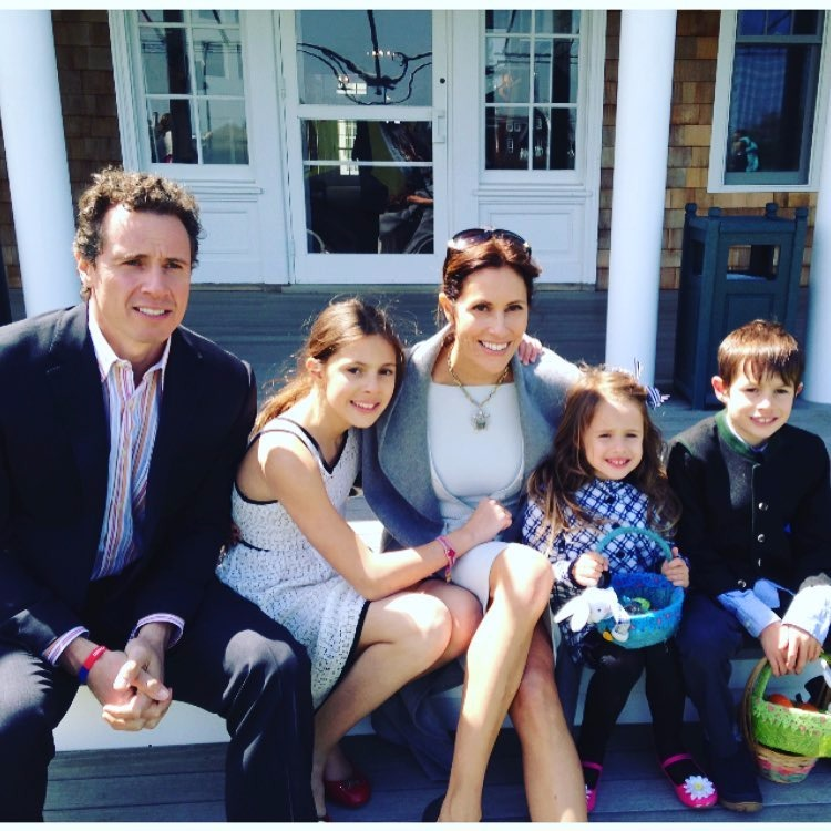 Chris Cuomo with wife Cristina and children