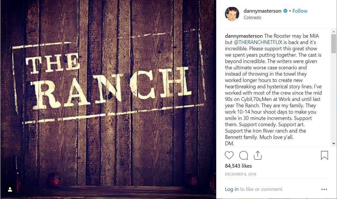 Screenshot Danny Masterson's Instagram Post