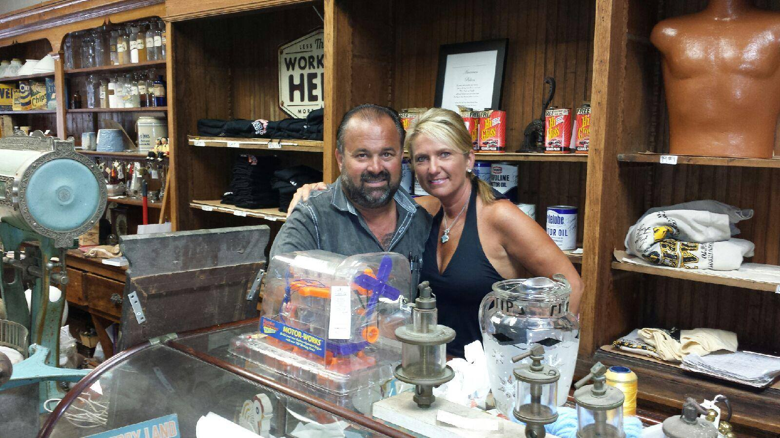 Frank Fritz and his girlfriend, Diann standing in the store