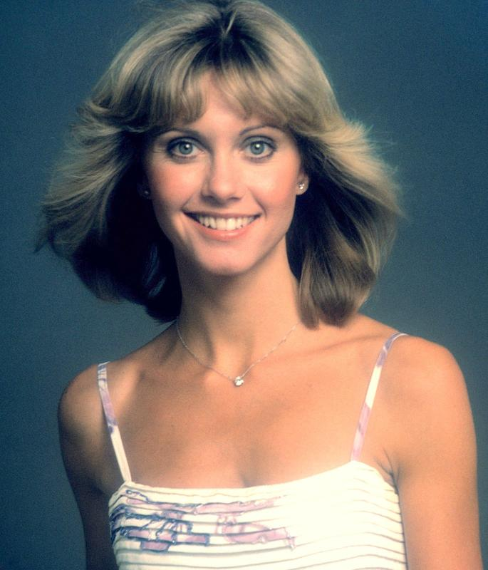 Actress/ Singer Olivia Newton John's head shot image. Olivia Newton John formed a duo with Pat Carroll named Pat and Olivia and toured in Europe