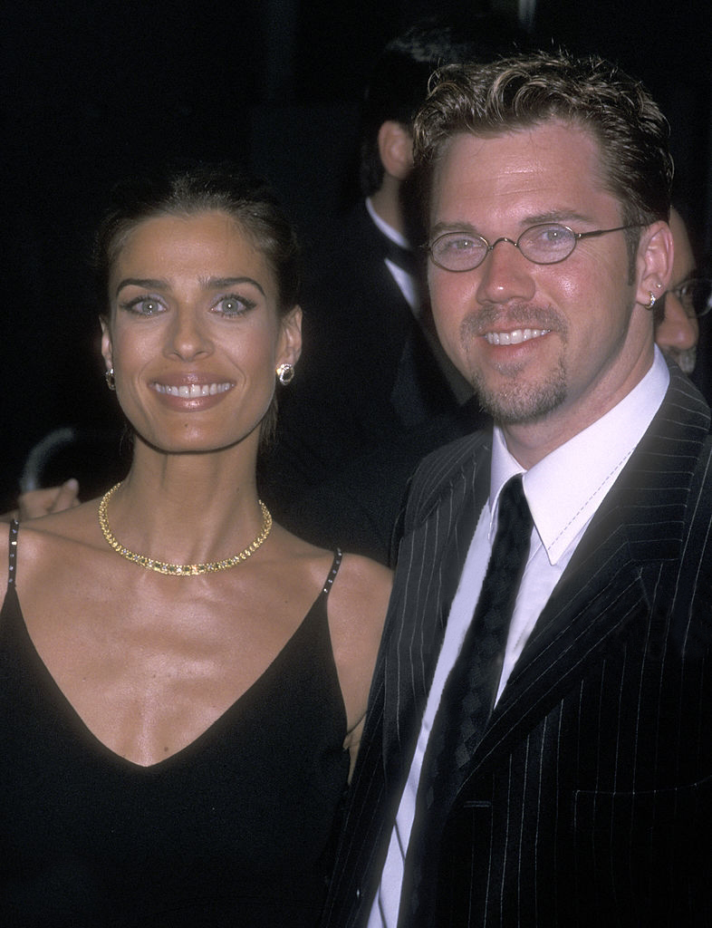 Kristian Alfonso and husband Danny Daggenhurst pose for a picture at Annual Daytime Emmy Awards in 2001