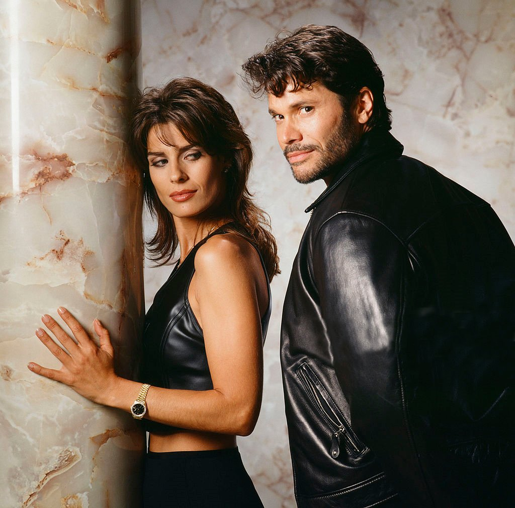 Kristian Alfonso with co-star Peter Reckell from the show Days of Our Lives
