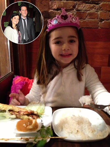 The picture features Alex Guarnaschelli's daughter Ava Clark. The cute little girl was born in 2007