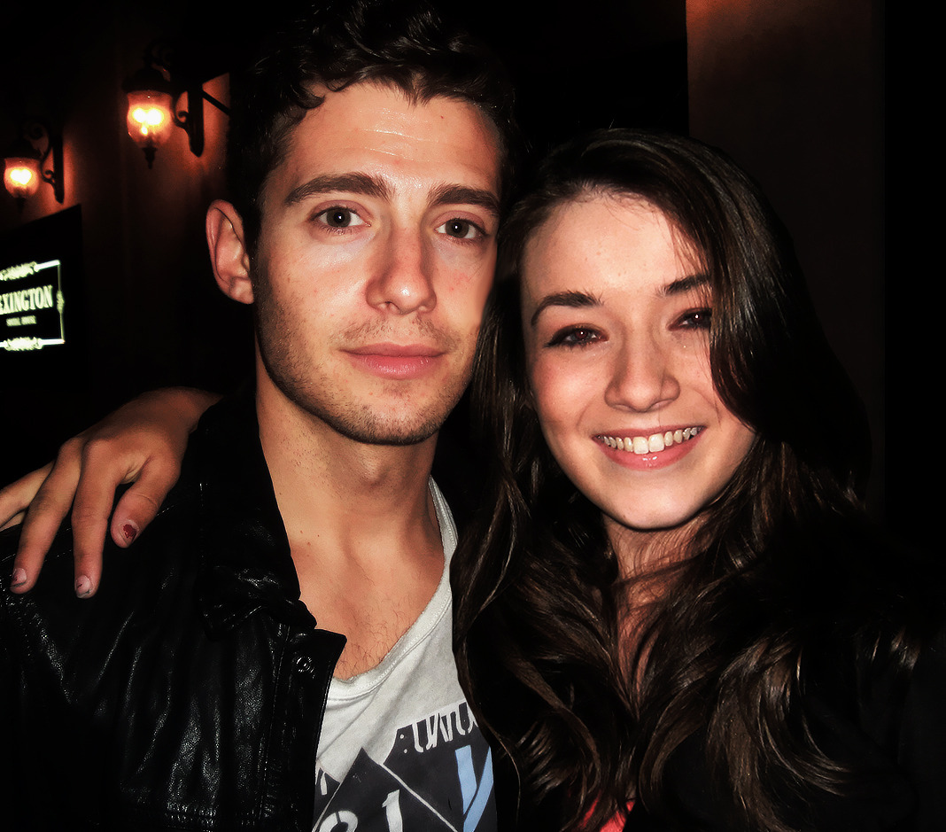 Julian Morris with Once Upon A Time co-star, Saran Bolger.