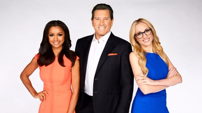 Eric Bolling with Eboni Williams and Katherine Timpf on the Fox News show Fox News Specialists