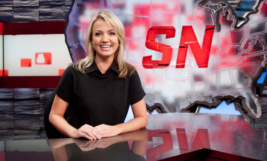 Michelle Beadle on ESPN2's 'SportsNation'. She has been co-hosting the show since 2009.
