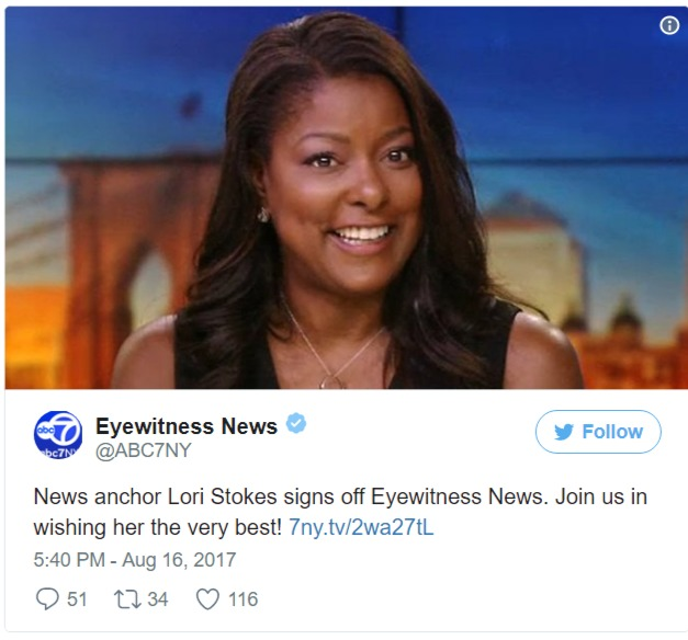 Lori Stokes leaving ABC Eyewitness twitter announcement