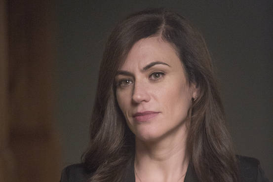 MAggie Siff has let her hair loose