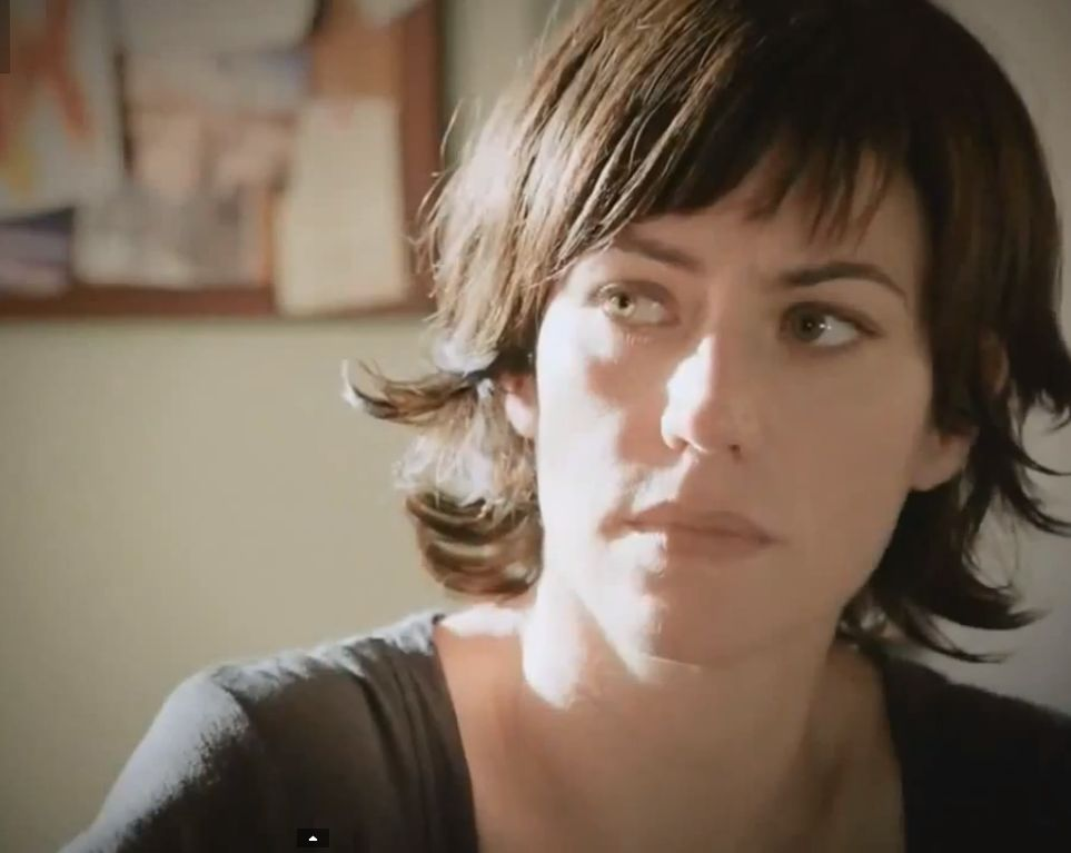 Maggie Siff while  shooting for Sons of Anarchy