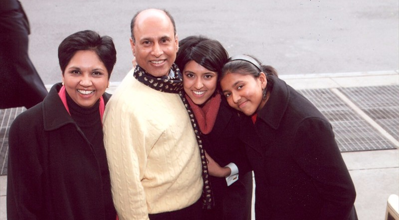 Indra Nooyi family picture