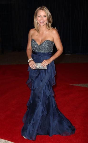 Lara Logan wearing a beautiful blue gown