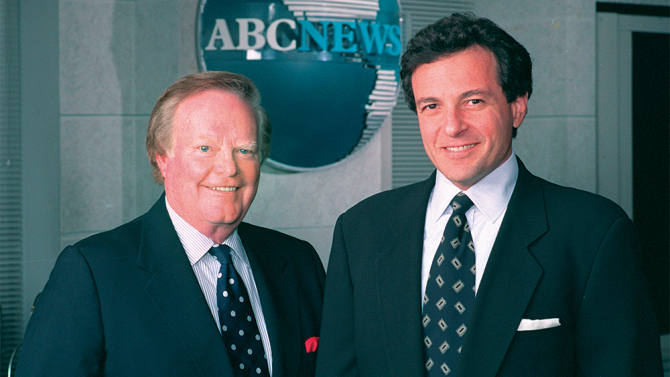 Bob Iger with ABC's Roone Ariedge photo from 1980.