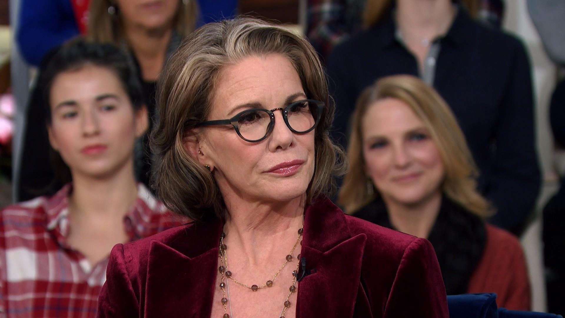 Melissa Gilbert in her old age wearing spectacles
