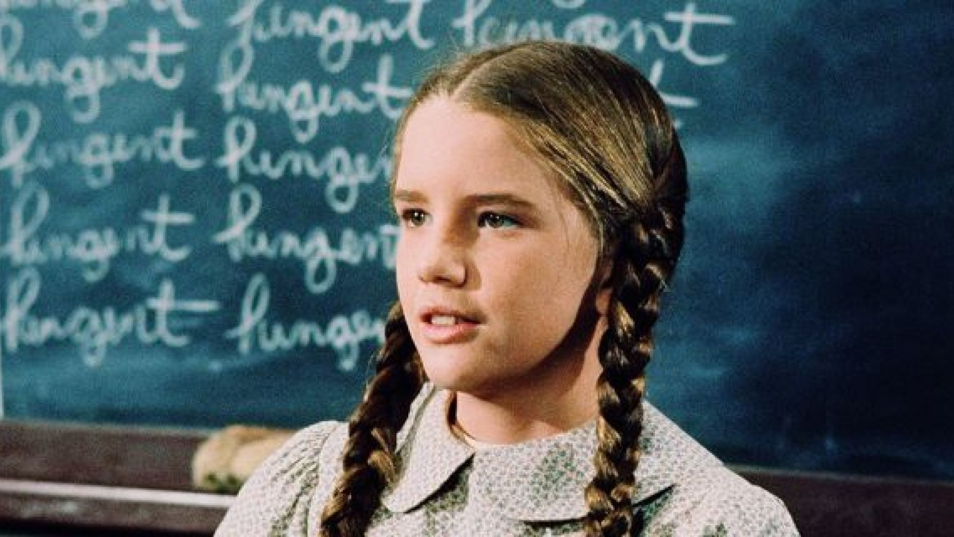 Melissa gilbert in the role of Laura Ingalls in Little House on the Prairie