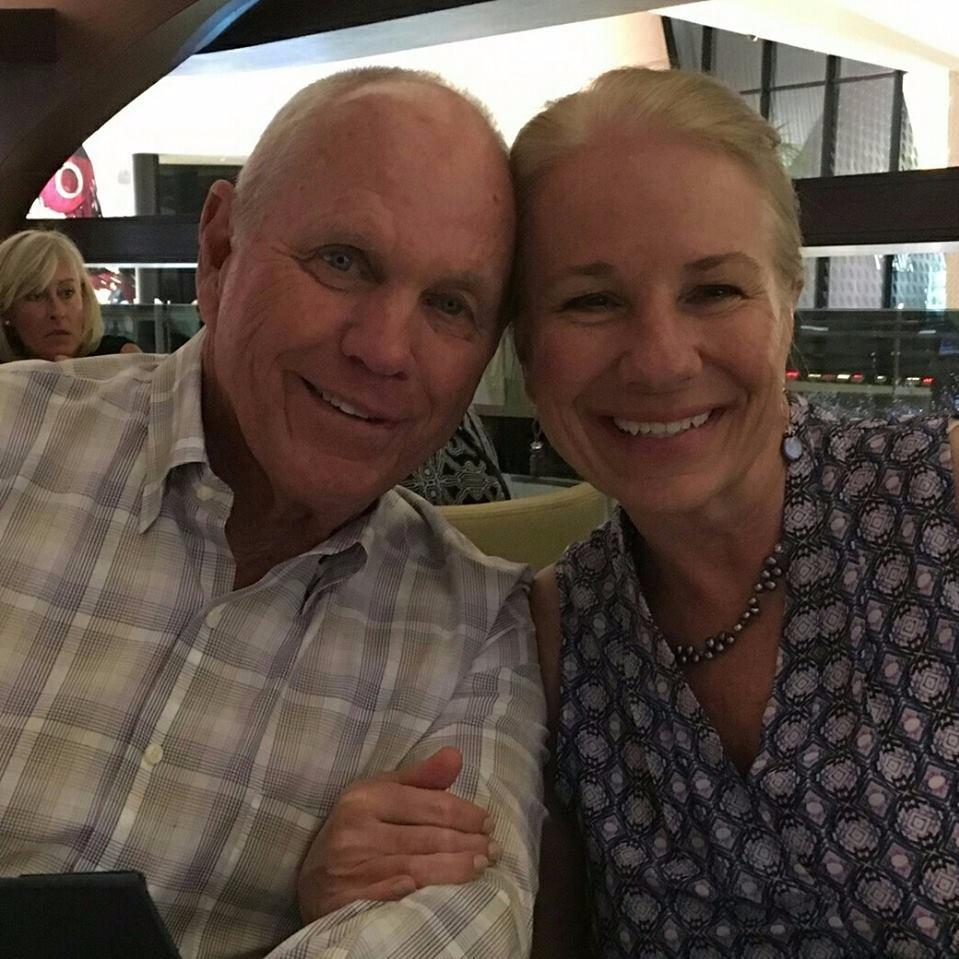 Butch Harmon with wife Christy Harmon