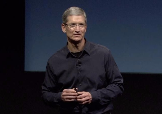Apple's CEo Tim Cook with his gentle look