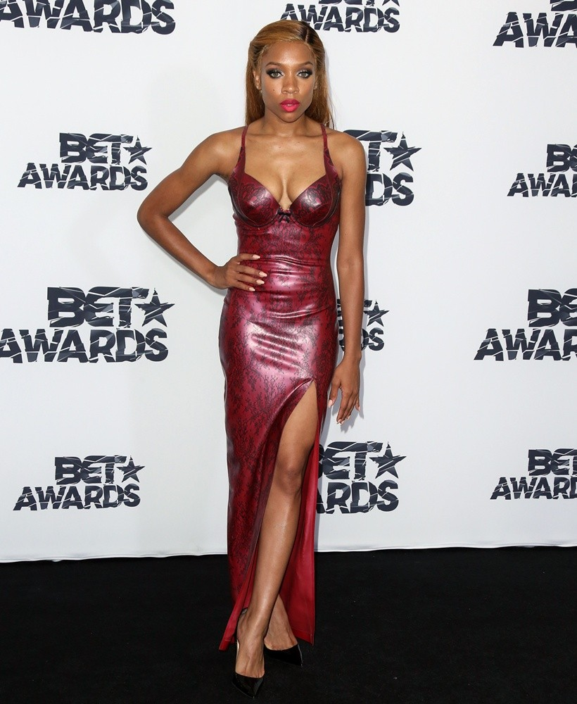 Sausage singer Lil Mama attends the BET Awards in 2015