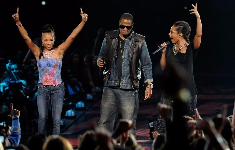 Lil Mama made an uninvited entry on stage during Jay-Z's VMA performance with Alicia Keys in 2009.