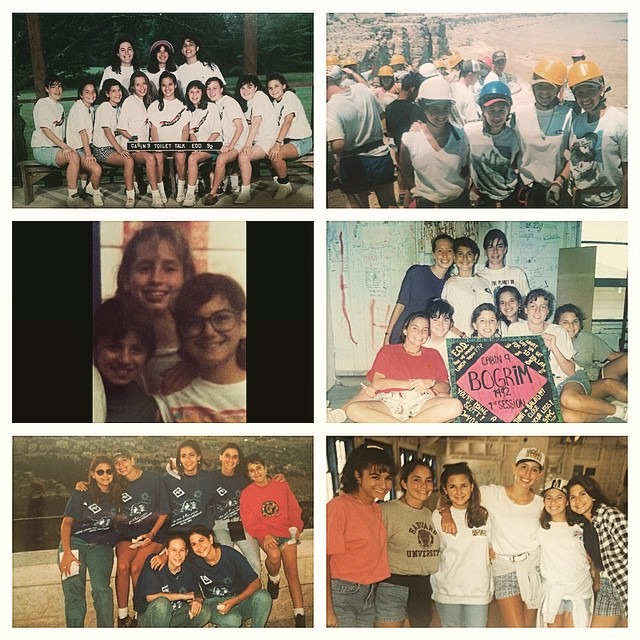 Stephanie Abram's childhood summer camp photographs combined together in a collage.