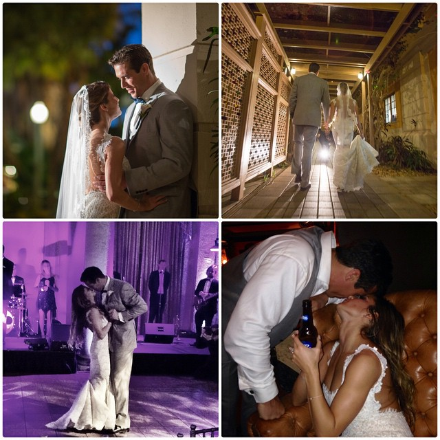 Alicia Sacramone with husband Brady Quinn at their wedding day.