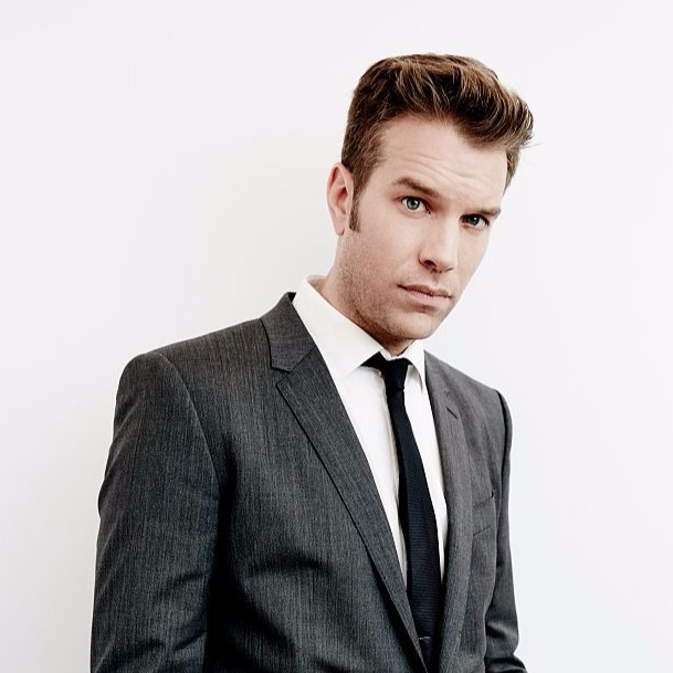 Stand-up comedian Anthony Jeselnik posing for photoshoot