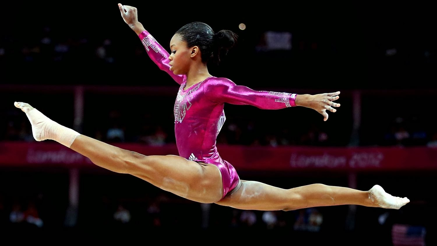 Gabby Douglas represents USA in gymnastics during the London Olympics 2012