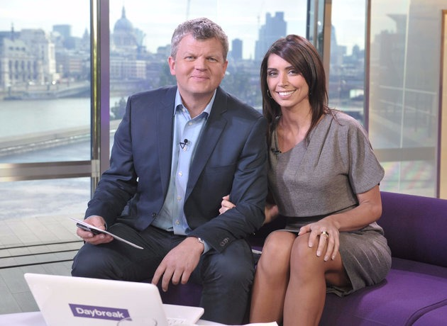 Adrian Chiles and Christine Bleakley smiling for the picture