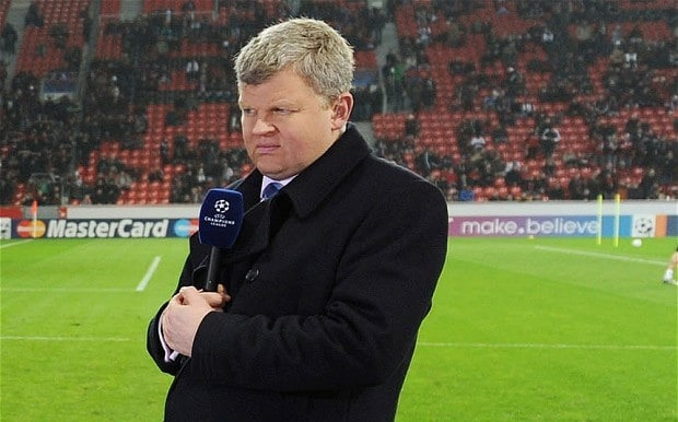 Adrian Chiles was a integral of several football match coverage for ITV