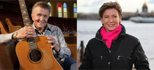 American singer Bill Anderson with his former wife , CNN journalist Becky Anderson.