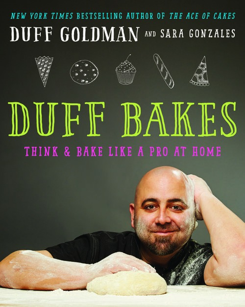 Cover of Aces of Cakes' Duff Goldman's book 'Duff Bakes'