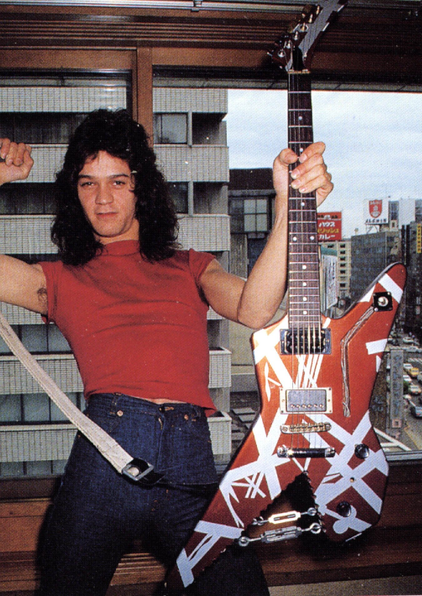 """Eddie with his 1970s Ibanez Destroyer 2459 – """"The Shark"""""""