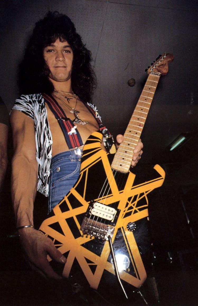 """Eddie with his 1979 Van Halen II – """"Bumblebee"""""""