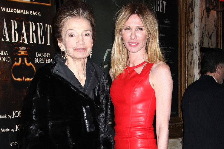 Lee Radziwill and Carole Radziwill posing for a photo at a public event