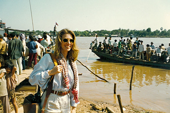 Carole Radziwill in Cambodia for her journalism assignment in the 90s