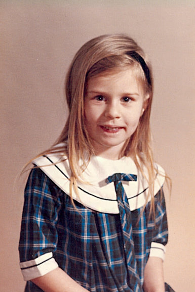 Carole Radziwill's photo during first grade. A princess in blonde!