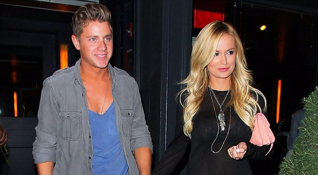 Emily Maynard & Jef Holm seen clasping hands in New York in 2012