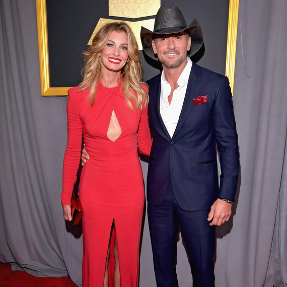 Faith and Tim at the Grammy