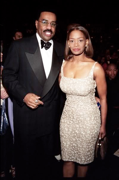 Steve Harvey and Mary Lee Harvey looked happy together while attending a public event
