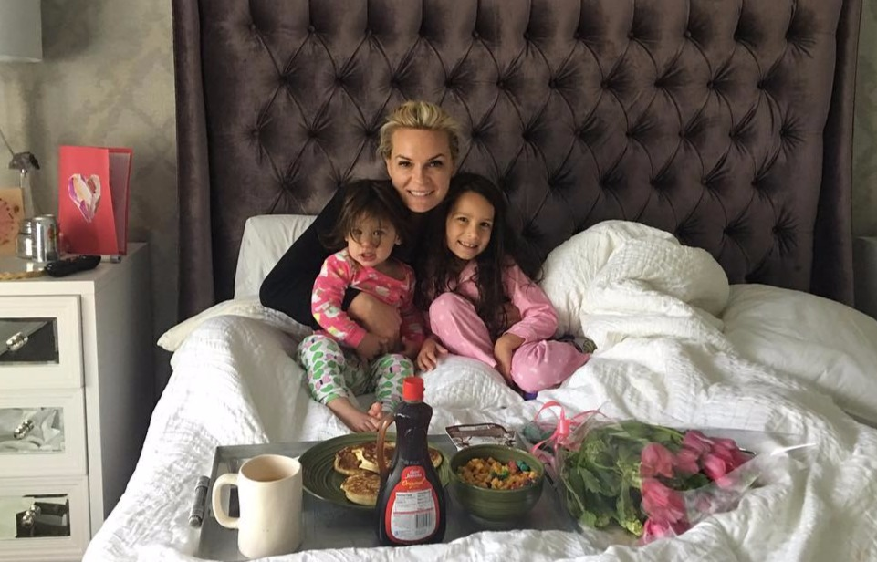 Jackie Ibanez celebrating mother's day with her children. She is pregnant with her third child.