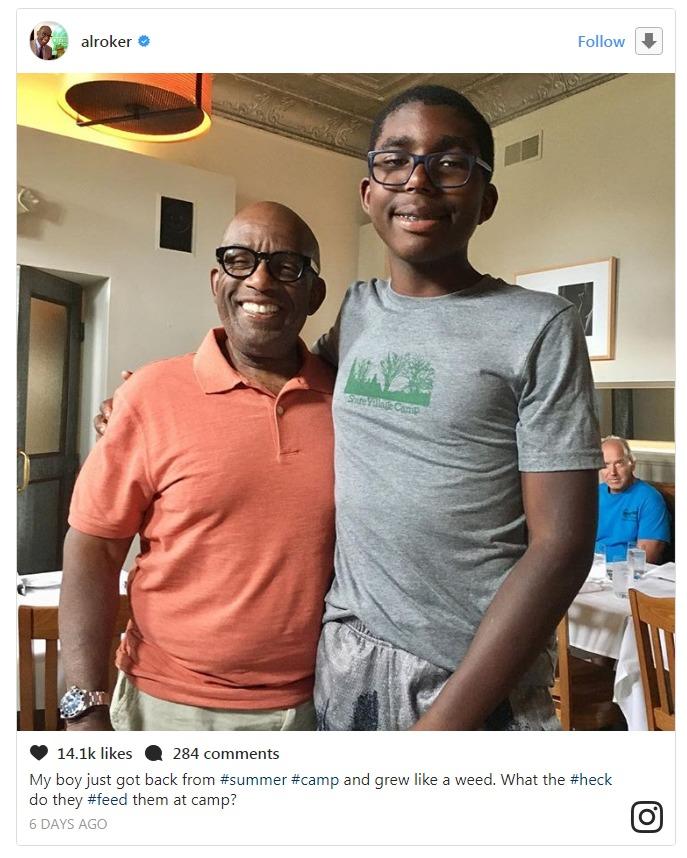 Al Roker's son Nicholas has suddenly grown taller than him