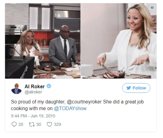 Al Roker's daughter Courtney cooked with him on Today Show in 2015