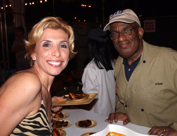Al Roker and Alice Bell at South Beach Wine and Food Festival in 2011