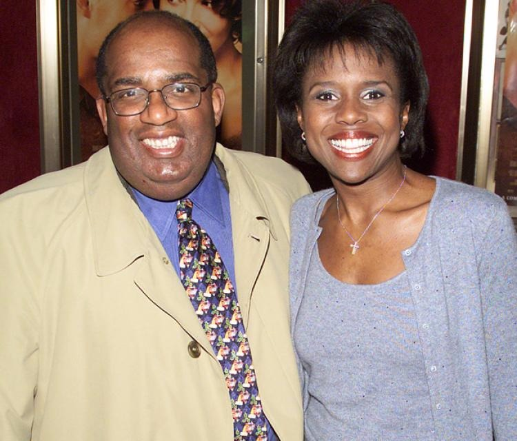 Al Roker with his wife Deborah Roberts in 2000 before his dramatic weight loss.