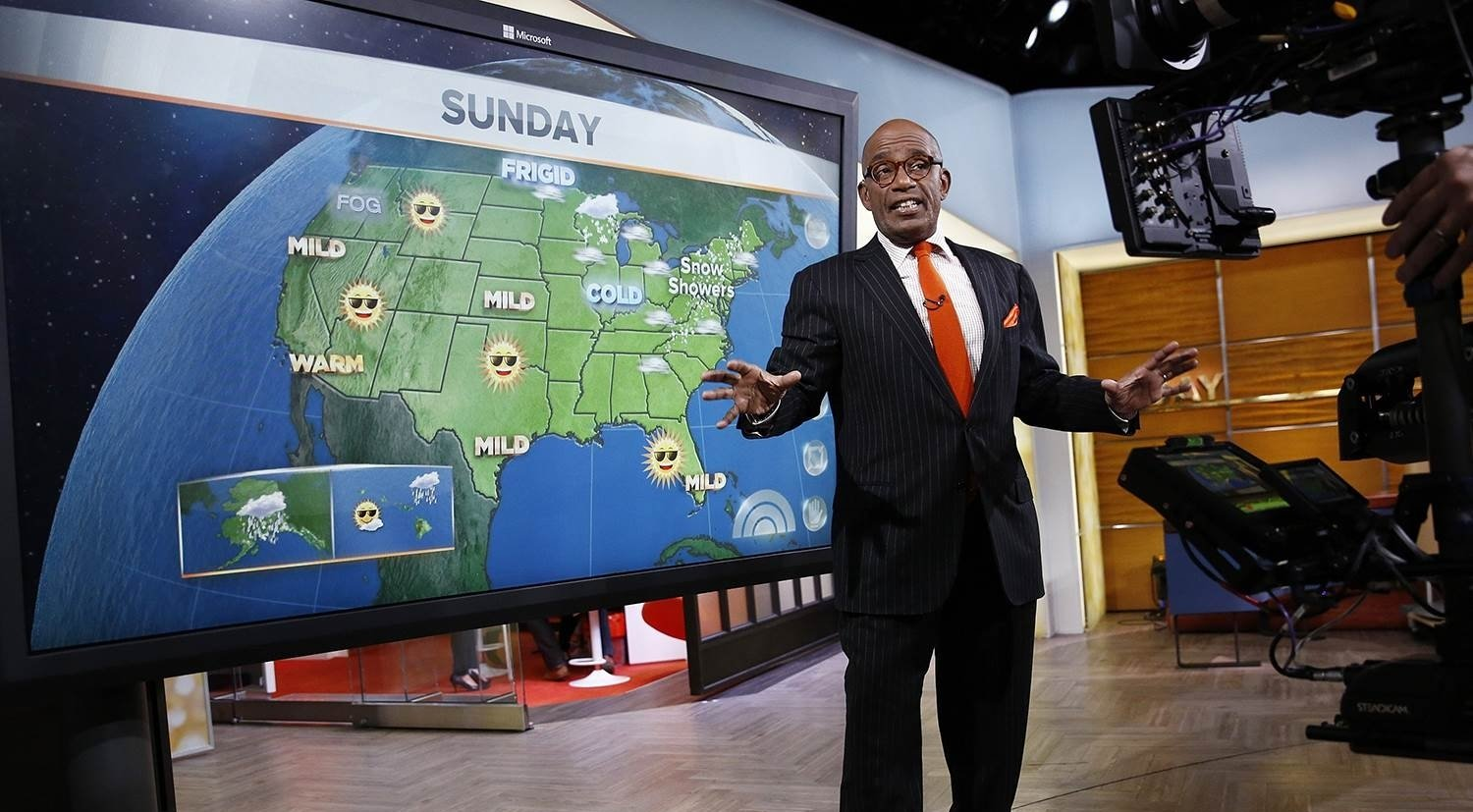 Al Roker forecasting weather update on Today